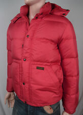 POLO RALPH LAUREN RED DOWN PUFFER JACKET DETACHABLE HOOD NWT S $325 VALUE