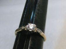 Vintage 14kt Diamond Engagement Ring, .25ctw+,  sz, 7.75, 1.57gr, 1930's-1940's,