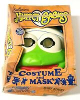 1985 Jim Henson's Muppet Babies Halloween Costume & Mask in Box Kermit Age 3-5