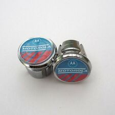 Vintage, rétro, Motorola Team, chrome racing bar bouchons, bouchons, Repro