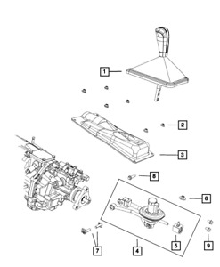 09-12 Dodge Challenger 6 Speed Manual Transmission Shifter Boot MOPAR 68052009AA