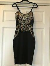 Black & Gold detailing party dress, Size 8