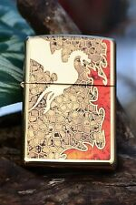 Zippo Lighter - Fusion Fire Breathing Dragon - Stained Glass - Model # 44487