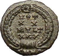 CONSTANS Constantine I the Great son 347AD Ancient Roman Coin Wreath  i29258