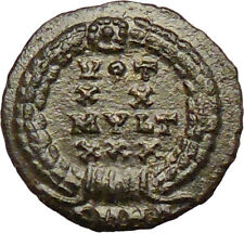 CONSTANS Constantine I the Great son 347AD Ancient Roman Coin Wreath  i29258