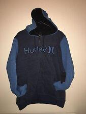 New Hurley Men's L HB Sherpa Zip Hoodie Large MFT0005310 Blue 80 Warm Jacket