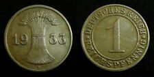 Germany / Weimar - 1 Reichspfennig 1933 F