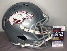 Chad Morris SIGNED Arkansas Razorbacks Full Size Football Helmet w/ JSA COA