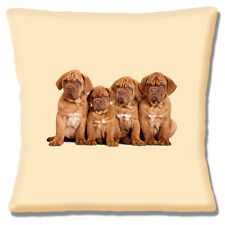 Bordeaux Puppy Dogs Cushion Cover Four French Wrinkly Pups 16 inch 40 cm