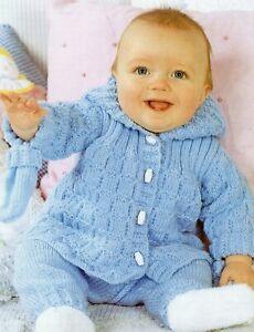 Baby DK Knitting Pattern Jacket and Leggings  Pram Set Sizes 14- 20  inches #252