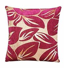 ILIV Pasha in Redcurrant Gold Fabric Cushion Cover Double Sided Chenille Floral