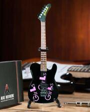 MICK MARS - Signature Black Girls x3 1:4 Scale Replica Guitar ~Axe Heaven