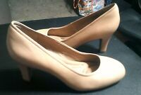 SOFFT Women's 9M Comfort Leather Heels Pumps Tan Beige NEW