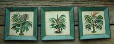 Toyo Plates Lot of 3 Tropical Palm Tree Handpainted Decorative Pictures