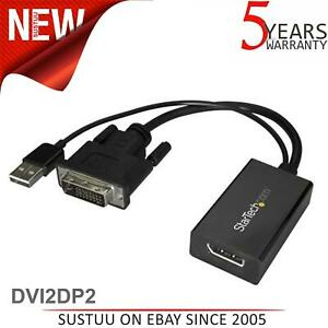 StarTech.com DVI2DP2 DVI to DisplayPort Cable Adapter with USB Power│DVI-D to DP
