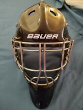 Bauer NME 7 fit 3 Black Ice Hockey Goalie Mask New Cheater cage SR