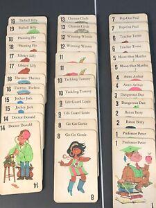 Vintage 1968 Milton Bradley JUMBO Old Maid Card Game COMPLETE All Cards