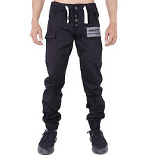 New Mens Chinos Joggers Regular Fit Cuffed Chino Jogger Jeans 28-40 42 44 46 48
