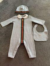 Gucci Babygrow, Hat And Bid Set