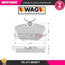 1423 Kit pastiglie freno a disco ant Audi-Seat MARCA-WAG