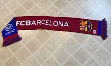 FC BARCELONA Official SCARF 2-Sided Soccer Team Made In England FCB Club Intel
