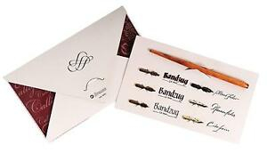 Brause Calligraphy And Writing Set w/ 6 nibs and 1 Wood Nib Holder