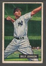 1951 Bowman #74 Billy Johnson  Yankees