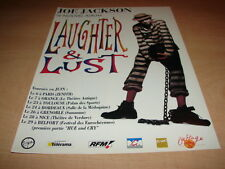 JOE JACKSON - FRENCH LAUGHTER TOUR!!!PUBLICITE / ADVERT