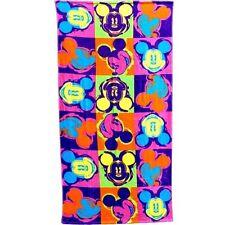 Disney Mickey Mouse Head Neon Pop Beach Towel