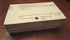 100 Library Card Catalog Index Cards Lot for Scrapbooking Crafting Altered Art