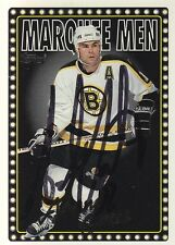 Adam Oates Bruins 1996 Topps Marquee Men #381 Signed Autograph Card