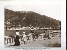 B Stampa- Print Lago di Como - veduta Brunate e Funicolare