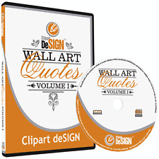WALL ART QUOTES CLIPART-VINYL CUTTER PLOTTER IMAGES-VECTOR CLIP ART GRAPHICS CD