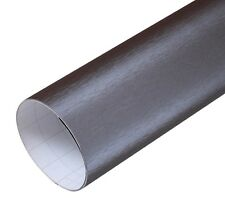 Aluminium Gebürstet Folie Grau mit Luftkanälen Klebefolie Brushed 100 x 152CM