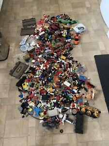 Lego Compatible- Bulk Lot - Bricks And Pieces -  7kg & Vintage Toy Box contents