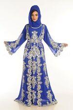 Marroquí Dubái Boda Árabe Takshita Boda Vestido Caftán para Mujer Vestido 6063