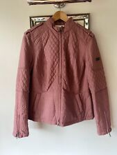 New Barbour Black Streak Fitted Jacket Size 16 Plum