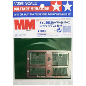 Tamiya 35179 Tiger I Etched Grille Model Accessory Pack Add On for 1/35 Scale