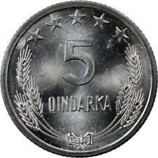 ALBANIA - 5 QINDARKA - 1964 - UNC