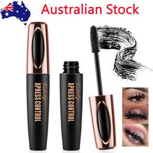 Black 4D Silk Fiber Eyelash Mascara Extension Makeup Waterproof Kits Eye Lashes