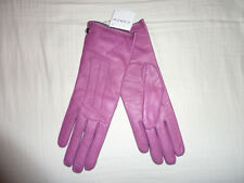 COACH Women's Cashmere Lined Leather Gloves PINK new rose 6.5 NWT NEW 82821