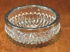 Antique Vintage Glass Candy Dish with Chrome Rim made in England