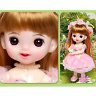 22.5cm BJD Doll 1/8 Ball Jointed Girl Replacement Pink Outfits Eyes Wig Full Set