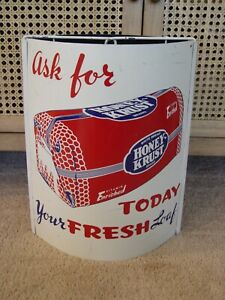 Ask For Honey-Krust Bread 3-Piece Metal Advertising Twine String Holder Sign