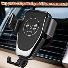 Automatic Car Charging Qi Wireless Charger Mount Clamping air Vent Phone Holder