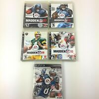 PS3 Playstation 3 Lot Of 5 Madden 7,8,9,10,13 NFL Football 4 CIB 1 Without