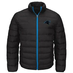 Carolina Panthers Mens Skybox Polyfil Full Zip Packable Jacket M-5XL by G-III