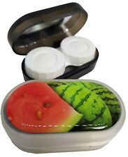 Funky Fruit Mirror Case Contact Lens Soaking Storage Case UK MADE - Watermelon