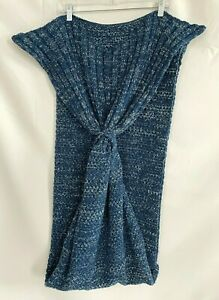 Cheer Collection Mermaid Tail Blanket Blue Knitted Warm Sleeping Wrap For Adult