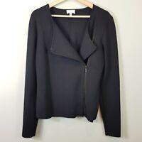 [ WITCHERY ] Womens Milano Knit Black Zip Jacket  | Size L or AU 14 / US 10